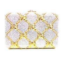 Judith Leiber Couture  Rectangle Slim Slide Bow  Clutch