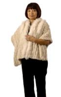 Paula Lishman Hand-Knit Beaver Bailey Wrap