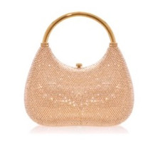 Judith Leiber Couture Top Handle Prosecco Carry Crystal Bag