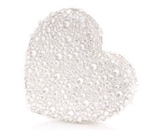 Judith Leiber Couture Silver Heart Clutch