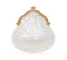 Judith Leiber Couture White Chatelaine Clutch