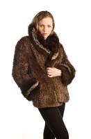 Paula Lishman Hand-Knit Sheared Beaver Ester Coat