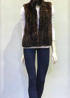Paula Lishman Hand Knit Ombre Walnut Dyed Beaver Vest