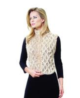 Paula Lishman Hand Knit Beaver Honeycomb Jockey Vest