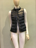 "Herno Black Iconico ""Giulia"" Quilted Puffer Vest"