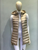 Herno Sand Fitted Quilted Down Vest with Detachable Hood
