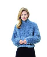 Paula Lishman Hand Knit Beaver Honeycomb Jockey Jacket