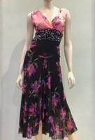 Fuzzi Patchwork Printed Sleeveless Dress