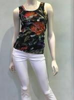 Fuzzi Nero Floral Print Tank Top