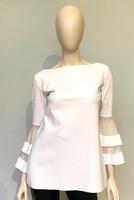 Chiara Boni La Petite Robe White Natty Organza Top