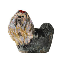 Judith Leiber Couture Yorkie Puppy Crystal Minaudière
