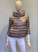 """Herno Taupe Iconico """"Sofia"""" Quilted Puffer Jacket"""
