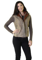 Remy Double Collar Leather Vest Diego/Rustic