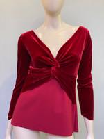 Chiara Boni La Petite Robe Garnet Hile  Velvet Top