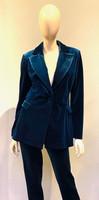 Chiara Boni La Petite Robe Teal Saliha Velvet Jacket