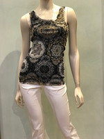 Fuzzi Black Print Tank Top