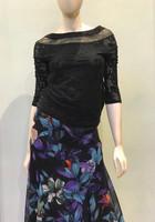 Fuzzi Nero Floral Print Skirt