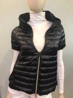 Herno Black Short Sleeve Puffer Jacket