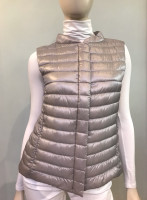 Herno Silver Quilted Puffer Vest