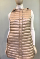 Herno Nude Nylon Hooded Mid-Length Quilted Vest