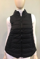 Herno Black Nylon Quilted Vest with side zippers