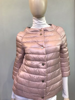 Herno Rosa Chiaro Button-Up Quilted Puffer Jacket
