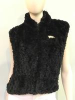 Paula Lishman Hand Knit Dyed Beaver Black Vest