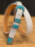 Rafter N Gems Blue/Gold 4pc. Buckle Set