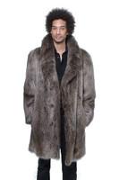 Men's Long Haired Beaver Car Coat