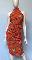 Chiara Boni La Petite Robe Tashkent Red Amenadiel Print Dress