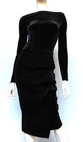 Chiara Boni La Petite Black Cassandre Velvet Dress