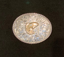 Sunset Trails Heritage Sterling Silver and 14K Gold Salmon Buckle