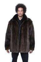 Men's Natural Beaver Coat