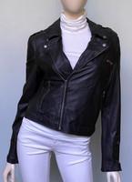 Jakett Josey Washed Leather Jacket - Black