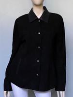 Lyn Leather Joy Shirt Jacket - Black Suede
