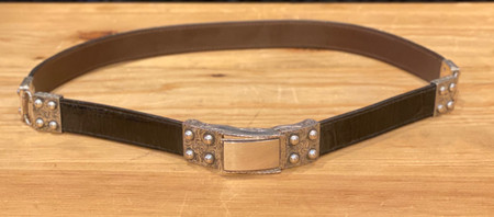 Chacon Belts & Buckle Herrera Engraved Sterling Silver,1""