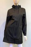 Rains Waterproof Hooded Jacket - Black