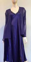 Komarov Charmeuse Dress with Jacket - Deep Heather Purple