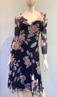 Komarov Floral V-Neck Dress - Prim Rose Dawn