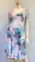 Komarov V-Neck Dress - Mint Lagoon