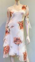 Komarov Bell Sleeve Dress - Sunset Bloom