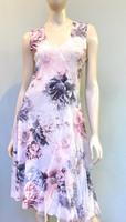 Komarov Asymmetric Hem Dress - Crystal Rose