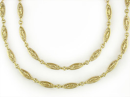 Ruth Taubman 18K Yellow Gold Antique French Chain Necklace
