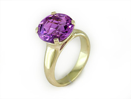 Ruth Taubman 18K Yellow Gold Amethyst Ring