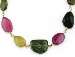 Ruth Taubman 18K Yellow Gold Multicolor Tourmaline Necklace