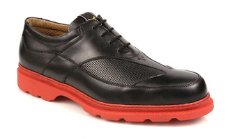 Michael Toschi Golf Shoes G3 Black with Red Sole