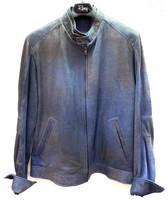 Remy Leather Men's  Leather Jacket- Denim