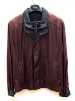 Remy Men's Double Collar Leather Jacket- Oxblood/Peat