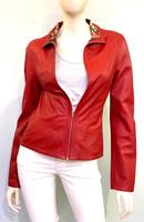 Alice Arthur Dark Red Leather Jacket