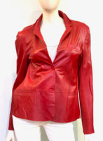 jkt Red Leather Jacket